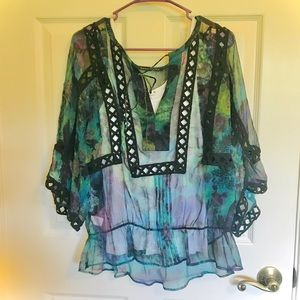 Daniel Rainn sheer blouse